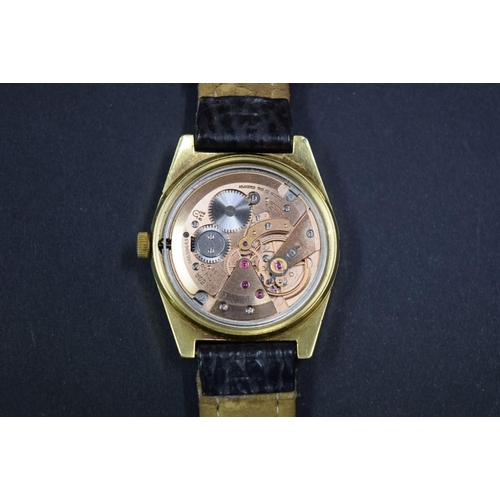 157 - <strong>A 1970s Omega Geneve gilt gentlemans wristwatch,</strong>cal 613, movement number 3465...