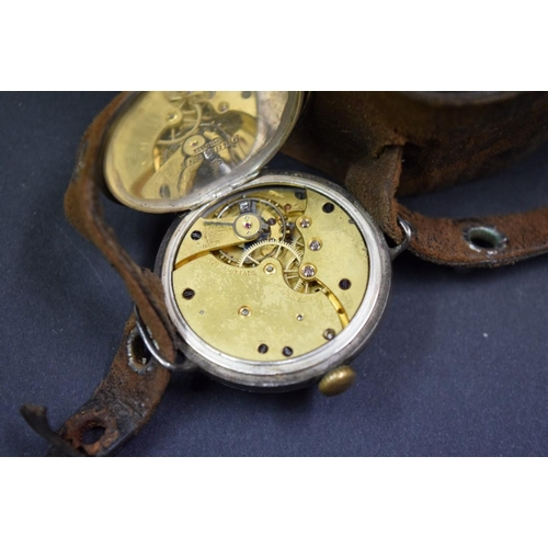 170 - <strong>A silver WWI era Mappin 'Campaign' military style manual gentlemans wristwatch</strong>, imp...