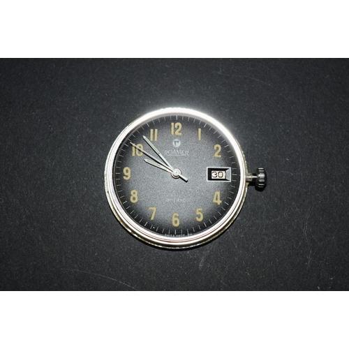 172 - <strong>A 1960s Roamer Anfibio gentlemans wristwatch,</strong>on later expanding bracelet. 35m...