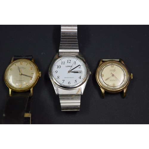 174 - <strong>A 1940s Octo waterproof gentlemans manual wristwatch,</strong>33mm;together with a vintage...