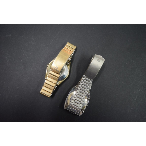 183 - <strong>A Seiko 0662-5009 LCD gentlemans wristwatch; </strong>together withanother Seiko quart...