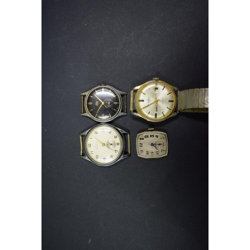184 - <strong>Four vintage gentlemans wristwatches, </strong>to include a Ferex Datomatic; together w...