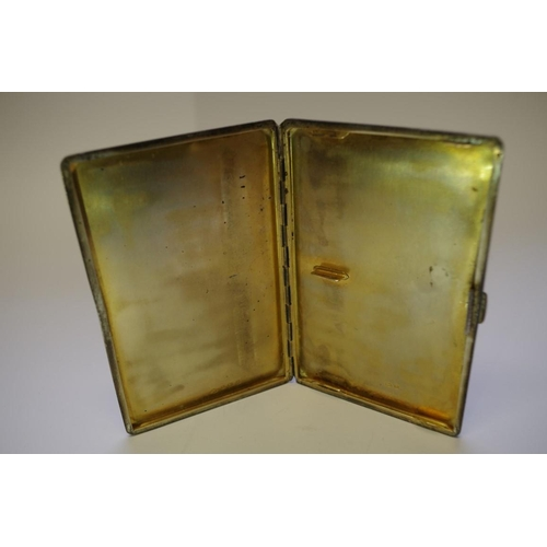 23 - <strong>Three silver engine turned cigarette cases,</strong> 496g....