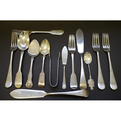 27 - <strong>Five items of Mappin & Webb cutlery,</strong> Sheffield 1906; together with a small quan...