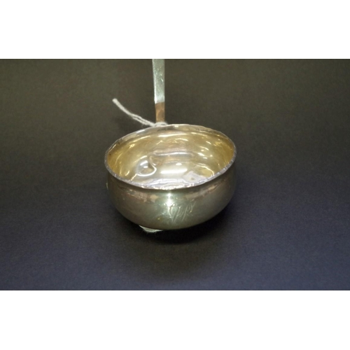 30 - <strong>An unmarked white metal and baleen toddy ladle, </strong>35.5cm....