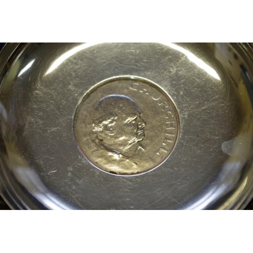 45 - <strong>A small parcel of silver items,</strong> to include a silver camel topped dish <em>by Garrar...