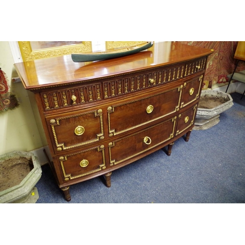 1623 - <strong>An interesting and unusual Victorian mahogany and parcel gilt commode,</strong><em>stamped ...