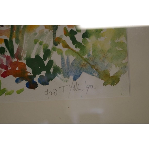 1635 - <strong>Fred Yates,</strong>'La Petite Chaumiere, Suzette, Vaucluse', signed and dated 1990, furthe...