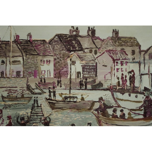 1636 - <strong>Fred Yates, </strong>'Shoreham by Sea', signed and dated 70, acrylic on board, 44.5 x 54.5cm...