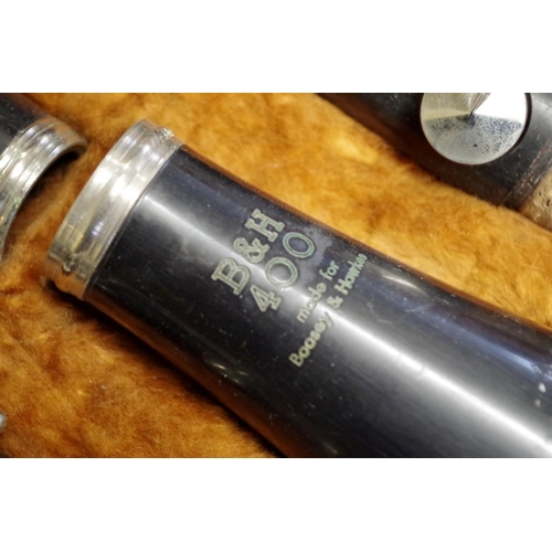 1658 - <strong>A Boosey & Hawkes 400 clarinet, </strong>in fitted case. ...