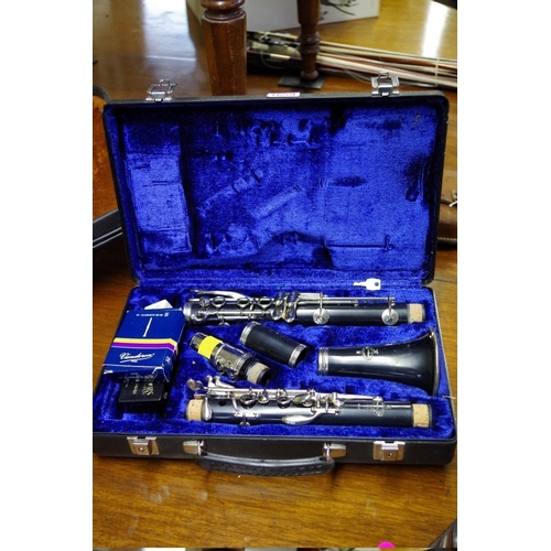 1659 - <strong>A Buffet clarinet,</strong>in fitted case....
