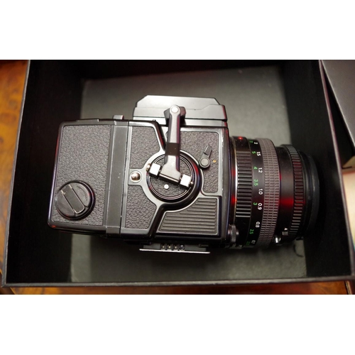1686 - <strong>Cameras:</strong>a Zenza Bronica ETSi No.7340830, withZenzanon PE 1:2.8 f=75mm l...