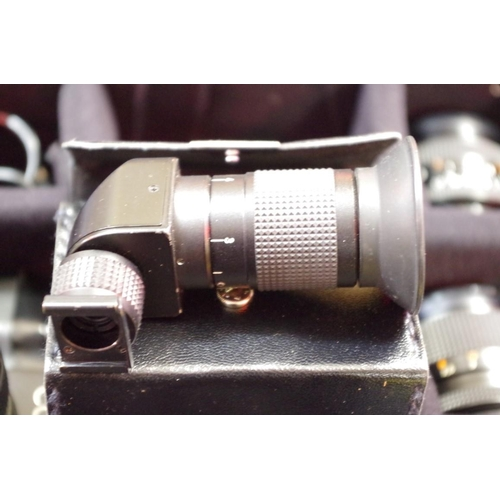1691 - <strong>Cameras:</strong>a good collection of Contax equipment, to include: two 139 Quartz bodies; ...