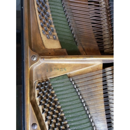 1309 - <strong>A 'C Bechstein Model B' ebonized grand piano,</strong>numbered on frame 111838, further num...