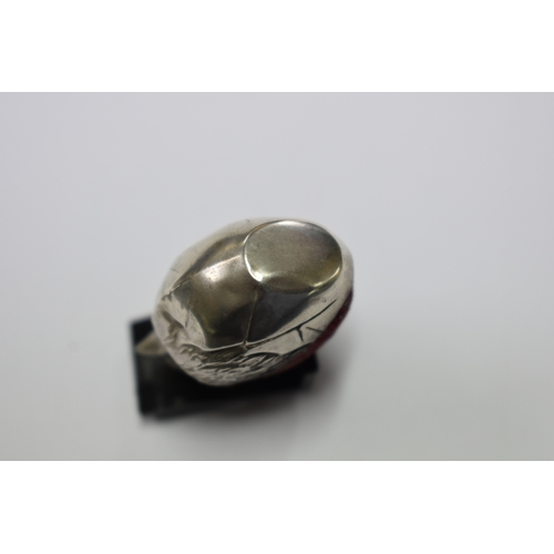 37 - <strong>A silver novelty hatching chick pin cushion</strong>,<em> by Sampson Mordan,</em> Chester 19...