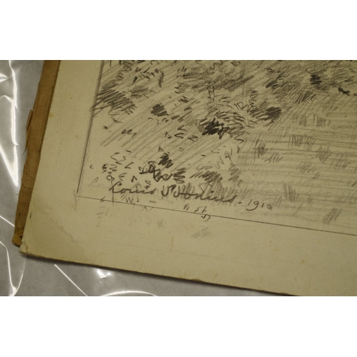 1663 - <strong>Louis Soonius, </strong>six landscape studies, each signed, dated and inscribed with title, ...