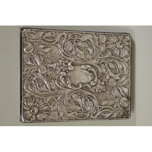 53 - <strong>A silver mounted address book,</strong> by <em>K F Ltd</em>, London 1989, 14 x 11cm....