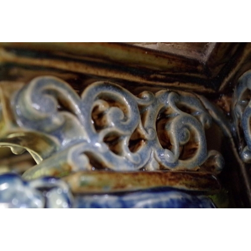 1661 - <strong>A large and impressive Victorian Doulton Lambeth stoneware centrepiece,</strong> possibly by...