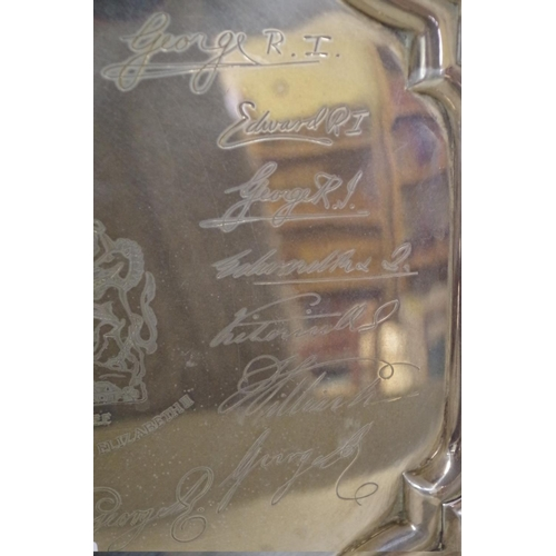 46 - <strong>A cased silver Queen Elizabeth ll Silver Jubilee salver,</strong> No. 222/250, <em>by E H Pa...
