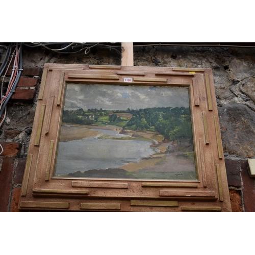 1108 - <strong>Montague Leder,</strong>a river landscape, signed, oil on canvas, 39.5 x 49.5cm....
