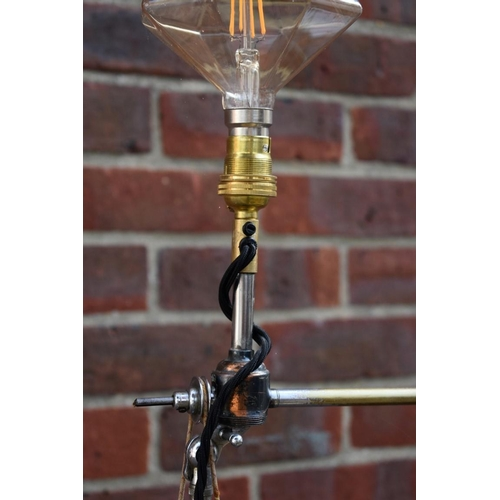 1111 - <strong>A late 19th century dentist's novelty pedal drill standard lamp.</strong>...