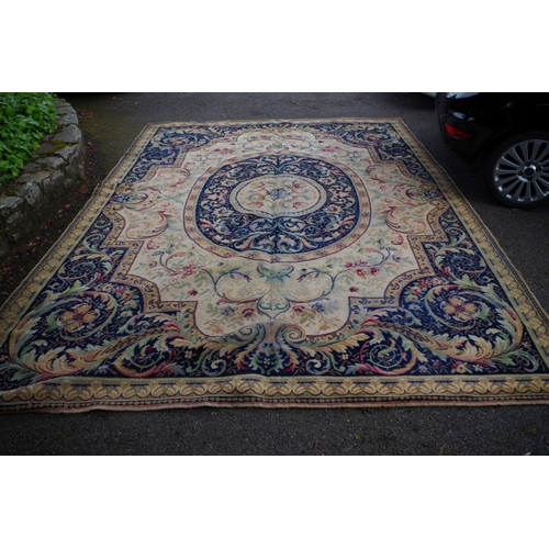 1105A - <strong>A large floral carpet having central floral medallion</strong>....