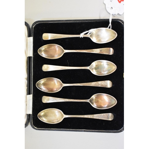 40 - <strong>A cased set of six silver teaspoons, </strong><em>by Josiah Williams &amp; Co, </em>London 1...