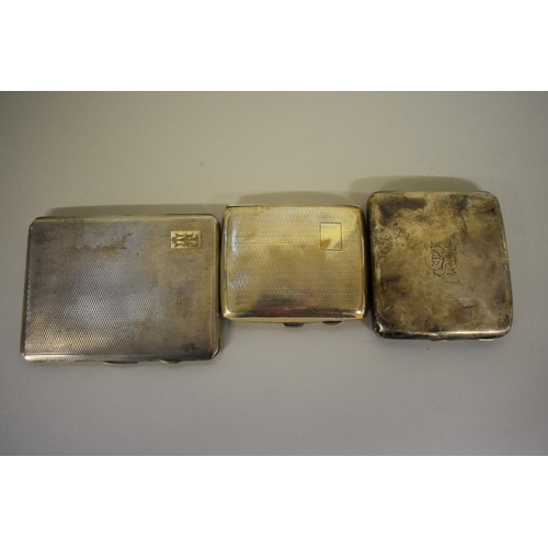 47 - <strong>Three silver cigarette cases</strong>, 303g....