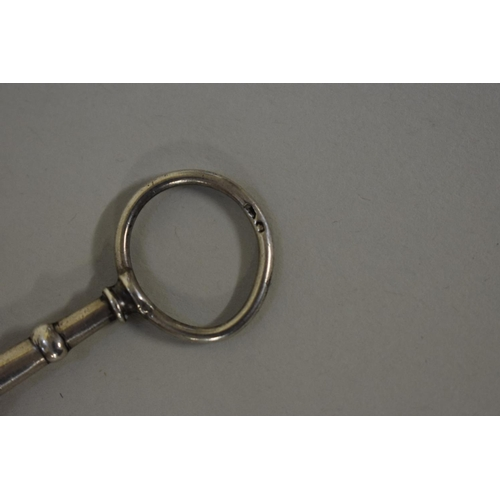 50 - <strong>A pair of William IV silver lorgnettes,</strong> <em>by Mary Anne</em> <em>Holmes</em>, Lond...