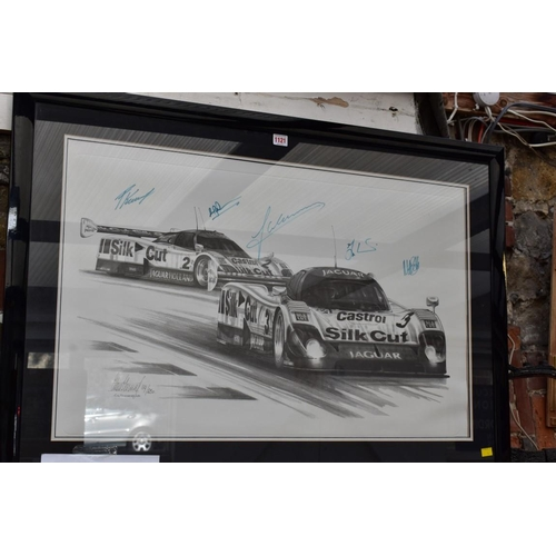 1221 - <strong>Alan Stammer,</strong>Le Mans Jaguars, signed in pencil and number 114/250, additionally si...
