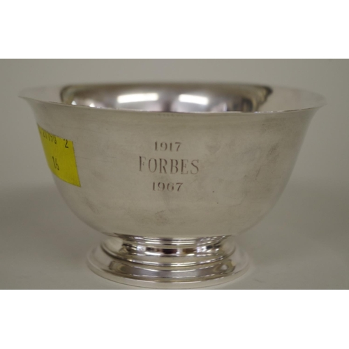 24A - <strong>A Tiffany & Co sterling silver bowl,</strong> stamped 23614, 6cm, 98g....