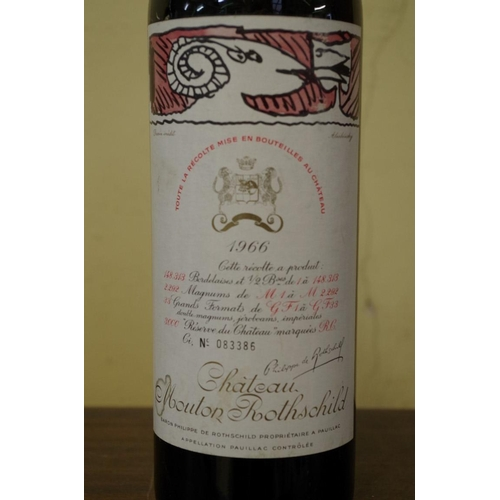 504 - <strong>A 75cl bottle of ChateauMoutonRothschild 1966,</strong> No. 083386....