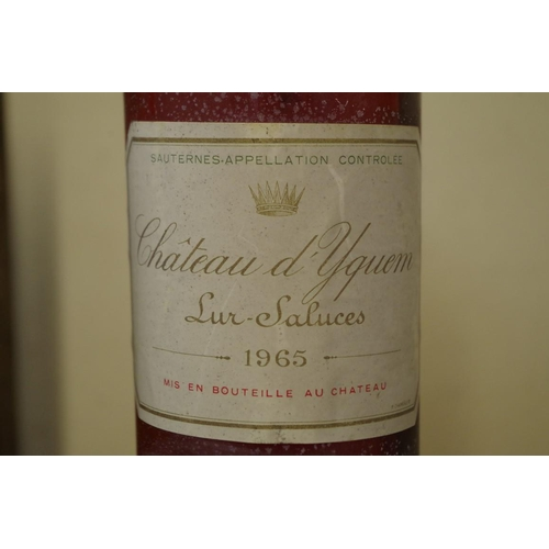 507 - <strong>A bottle of Chateau d'Yquem 1965,</strong> Sauternes....