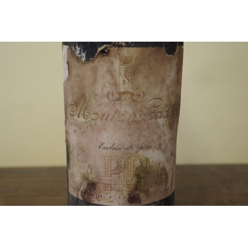 510 - <strong>A bottle of Mouton Cadet 1949,</strong> Baron Philippe de Rothschild....