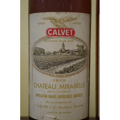 515 - <strong>Two bottles of Chateau Mirabelle 1959,</strong> Calvet. (2)...