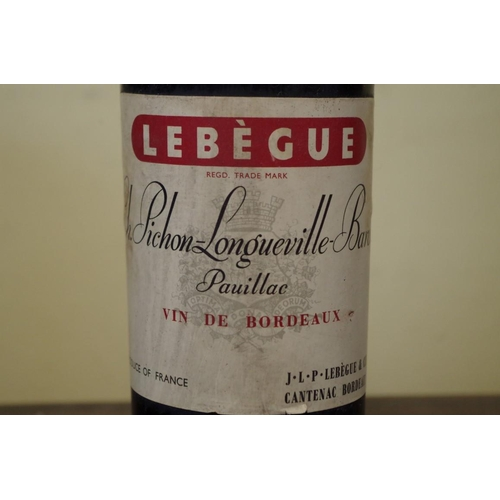 516 - <strong>A bottle of Chateau Pichon-Longueville-Baron 1957,</strong> Pauillac....
