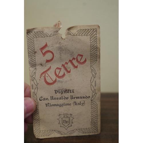 518 - <strong>A bottle of Sciactrac Ansaldo 5 Terre Liquoroso 1957.</strong>...