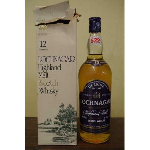 522 - <strong>A 26 2/3 fl.oz. bottle of Lochnagar 12 year old 'Highland Malt' whisky,</strong> 1970s bottl...