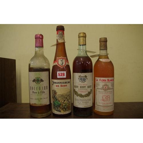 528 - <strong>Four various bottles of dessert wine,</strong> comprising: La Flora Blanche Sauternes; Est E...
