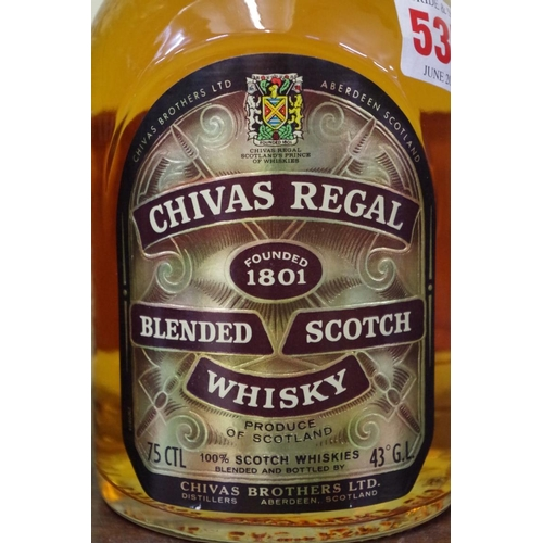 535 - <strong>WITHDRAWN FROM SALE: </strong>A 75cl bottle of Chivas Regal 12 year old whisky, in card box....
