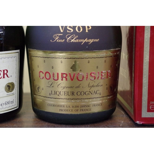 536 - <strong>Two 68cl bottles of Courvoisier cognac</strong>, comprising VSOP and three star luxe, each i...