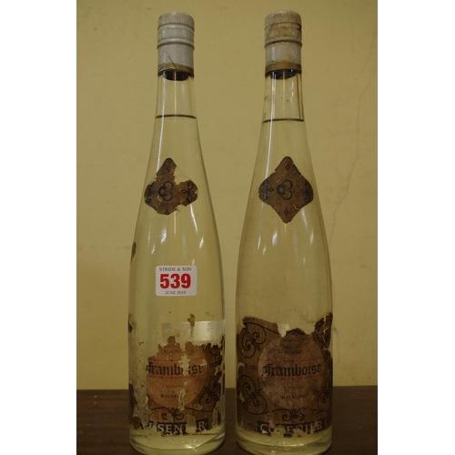 539 - <strong>Two 24 1/2 fl.oz. bottles of Cusenier Framboise Vieille Reserve.</strong> (2)...