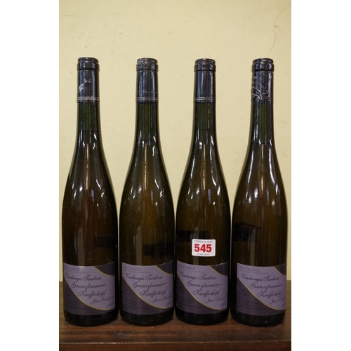 545 - <strong>Four 75cl bottles of Gewurztraminer Kaefferkopf Vendanges Tardives 1989, </strong>Jean Schae...