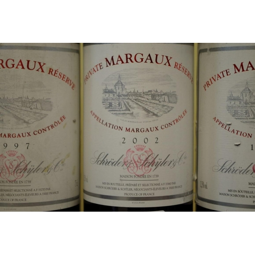 547 - <strong>Five 75cl bottles of Schroder & Schyler Margeaux Private Reserve,</strong>comprisi...