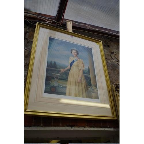 1209 - <strong>Mara McGregor,</strong>standing three quarter length portrait of Queen Elizabeth II, s...