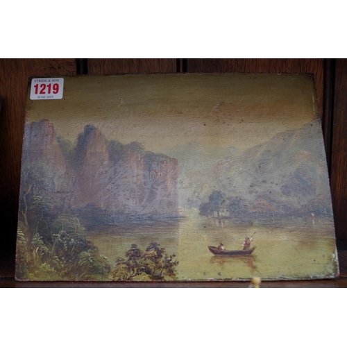 1219 - <strong>Two 19th century unframed oil paintings,</strong> largest 19 x 27.5cm....