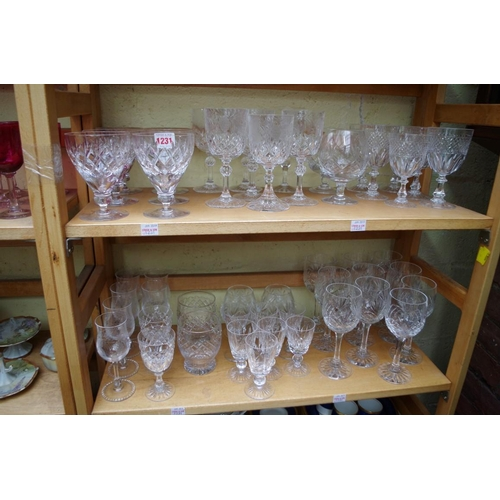 1231 - <strong>A collection of English drinking glasses,</strong>to include examples by Stuart. (two ...