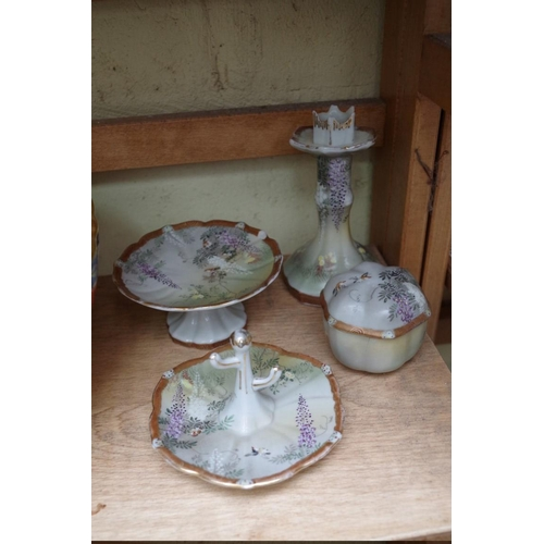 1236 - <strong>A collection of English and Continental ceramics and glass. </strong>(two shelves)...