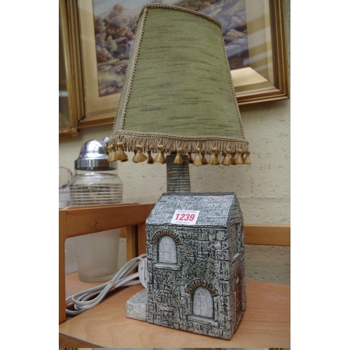 1239 - <strong>A Troika pottery novelty table lamp,</strong>by Alison Brigden, height excluding fitting 22...