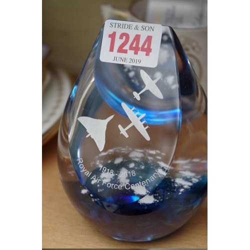 1244 - <strong>A collection of commemorative ceramics and glass,</strong>to include examples by Royal...